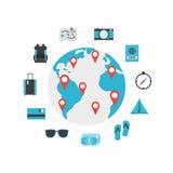 Icono del World Travel Imágenes de archivo libres de regalías