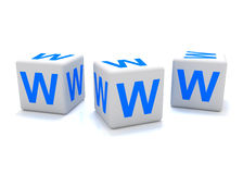 Icono del World Wide Web Fotos de archivo libres de regalías