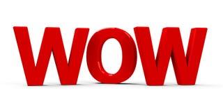 Icono del wow Fotografía de archivo
