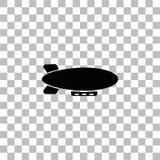 Icono del zepel?n del dirigible completamente stock de ilustración
