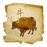 Icono del zodiaco del buey Imagen de archivo libre de regalías