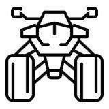 Icono delantero de la bici del patio, estilo del esquema ilustración del vector