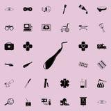 Icono dental del excavador Sistema universal de los iconos de la medicina para el web y el móvil ilustración del vector