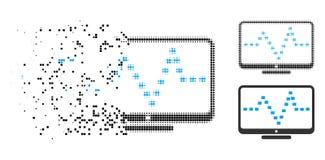 Icono destrozado de Dot Halftone Monitor Dotted Pulse libre illustration