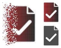Icono Destructed de Dot Halftone Valid Agreement Page Stock de ilustración