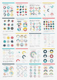 Icono determinado de la carta de Infographic Elements.Big. Foto de archivo