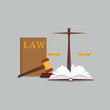 Icono determinado de la ley y de la justicia Imagen de archivo libre de regalías