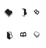 Icono determinado del libro del icono de la letra del vector B Fotografía de archivo libre de regalías
