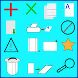 Icono dibujado mano Imagen de archivo libre de regalías