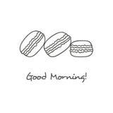 Icono dibujado mano de los macarons Fotos de archivo libres de regalías