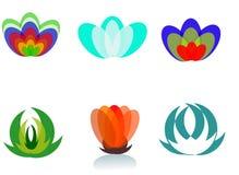 icono digital abstracto hermoso de la flor Imagen de archivo libre de regalías