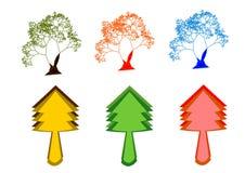 Icono digital hermoso del árbol Foto de archivo
