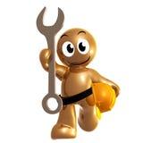 Icono divertido con la herramienta del mantenimiento y el casco de seguridad Imagen de archivo libre de regalías