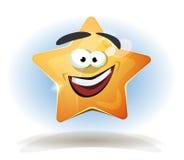 Icono divertido del carácter de la estrella ilustración del vector