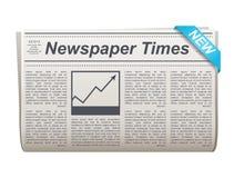 Icono doblado del vector del periódico con el tipo y la imagen ilustración del vector