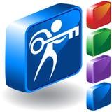 Icono dominante 3D Foto de archivo libre de regalías