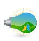 Icono económico de energía del ambiente de la bombilla Fotos de archivo