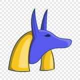 Icono egipcio antiguo de Anubis de dios, estilo de la historieta stock de ilustración