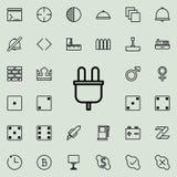 Icono eléctrico del enchufe Sistema detallado de la línea minimalistic iconos Diseño gráfico superior Uno de los iconos de la col stock de ilustración