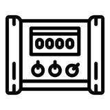 Icono eléctrico del microcontrolador, estilo del esquema libre illustration