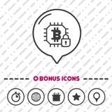 Icono electrónico de la cartera símbolo del bitcoin Imágenes de archivo libres de regalías