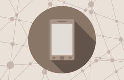 Icono elegante del teléfono ilustración del vector