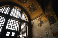 Icono en Aya Sofia Imágenes de archivo libres de regalías