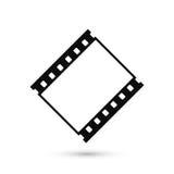 Icono en blanco de la tira de la película aislado en el fondo blanco Imagen de archivo libre de regalías