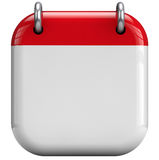 Icono en blanco del calendario Fotografía de archivo