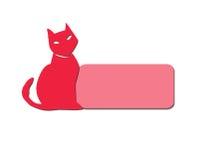 Icono en blanco del gato Ilustración del Vector