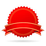 Icono en blanco rojo del premio ilustración del vector