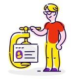 Icono en el estilo de la historieta Objeto aislado en el backgr blanco ilustración del vector