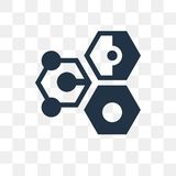 Icono en enlace del vector aislado en el fondo transparente, transporte en enlace stock de ilustración