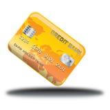 Icono en línea de la tienda de la tarjeta amarilla Foto de archivo libre de regalías