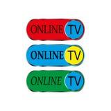 Icono en línea de la TV Fotografía de archivo libre de regalías