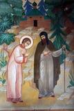 Icono en la trinidad Sergius Lavra Foto de archivo libre de regalías