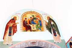 Icono en la trinidad Sergius Lavra, Sergiev Posad, Rusia Mundo Herit de la UNESCO Foto de archivo libre de regalías