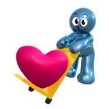 Icono encantador 3d con el cargo del corazón ilustración del vector
