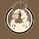 Icono enojado del gallo de la historieta Imágenes de archivo libres de regalías