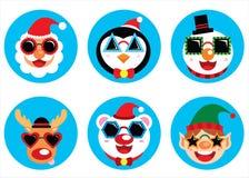Icono enrrollado de la Navidad stock de ilustración