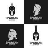 Icono espartano de los guerreros de los cascos Foto de archivo