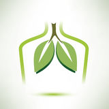 Icono estilizado aislado pulmones del símbolo del vector libre illustration