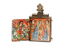 Icono etíope de Diptich Fotos de archivo libres de regalías