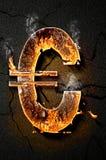 Icono euro Imagenes de archivo