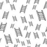 Icono exhausto de las escaleras de la moda de la mano inconsútil del modelo Bosquejo negro dibujado mano Muestra/símbolo/garabato ilustración del vector