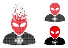 Icono extranjero de semitono quebrado del Cyborg de Pixelated libre illustration