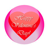 Icono feliz del día de tarjetas del día de San Valentín Imagenes de archivo