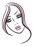 Icono femenino ilustración del vector