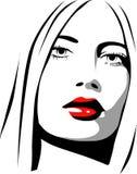 Icono femenino Imagen de archivo libre de regalías