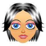 Icono femenino del avatar del retrato con la cara de la muchacha Fotos de archivo